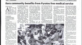 Tribune Report on NAS Medical Mission
